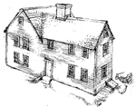 Mott House 040: Drawing of Jacob II Phase 2, circa 1725
