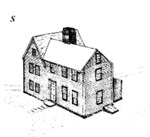 Mott House 050: Drawing of Jacob II House, Phase 2, circa 1725