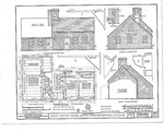 Waite Potter House Plan Drawing - South, West, East elevations, HABS