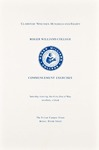 Commencement Program, 1980 by Roger Williams College
