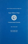 Commencement Program, 1984 by Roger Williams College