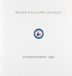 Commencement Program, 1992
