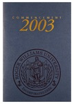 Commencement Program, 2003 by Roger Williams University