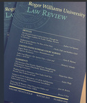 The Roger Williams University Law Review